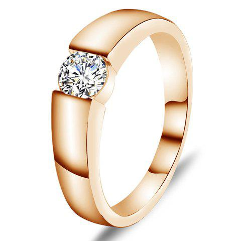 Rhinestone Alloy Ring - ROSE GOLD ONE-SIZE