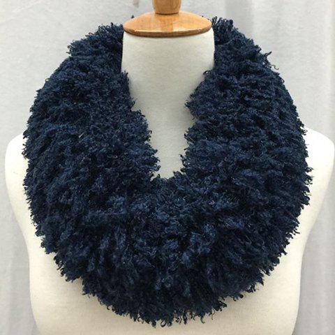 Chic Solid Color Woolen Yarn Fake Fur Winter Neck Warmer For Women - RANDOM COLOR