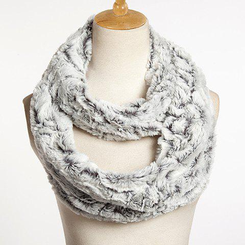 Chic Solid Color Faux Fur Downy Neck Warmer For Women - RANDOM COLOR
