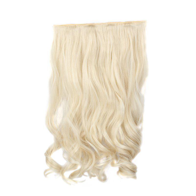 Shaggy Wavy Assorted Color Capless Trendy Long Clip-In Synthetic Women's Hair Extension - PALE BLONDE 3/