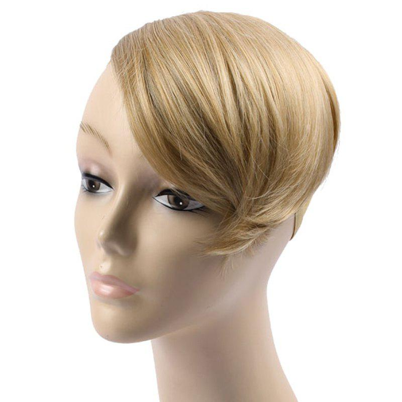 Charming Clip In Straight Capless Deep Blonde Heat Resistant Synthetic Women's Side Bang