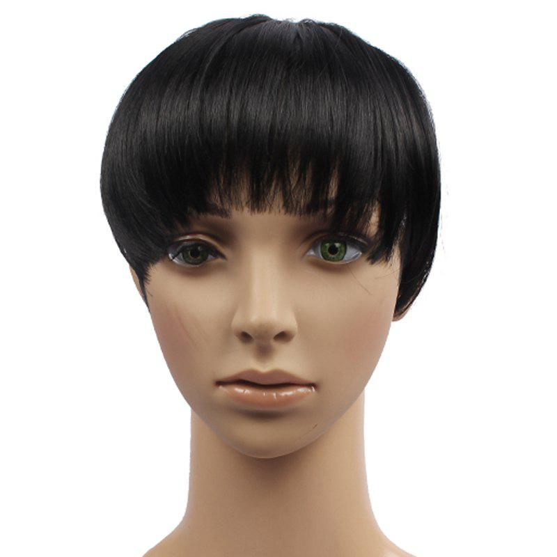Stylish Fluffy Straight Heat Resistant Synthetic Clip-In Capelss Women's Full Bang - B