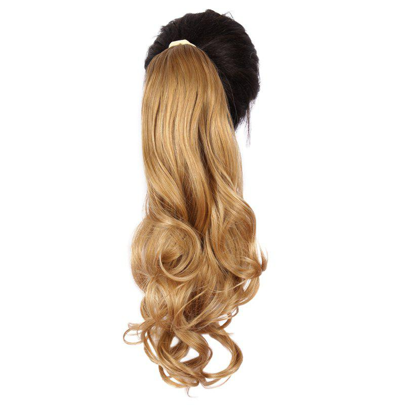 Vogue Long Towheaded Wavy Synthetic Brown Blonde Mixed Capless Women's Ponytail - COLORMIX