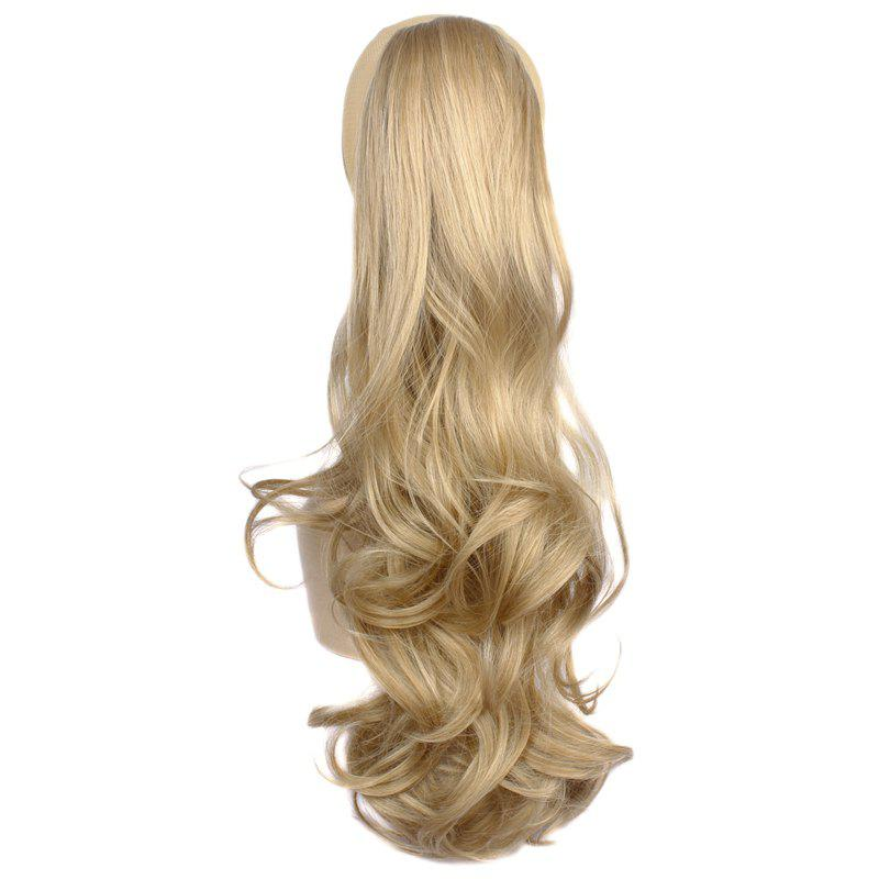 Fluffy Wave Claw Clip Prevailing Heat-Resistant Fibre Deep Blonde Long Women's Ponytail - DEEP BLONDE