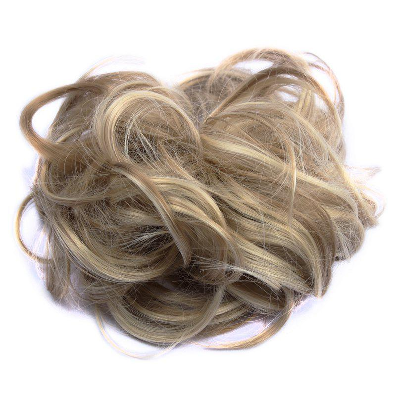 Assorted Color Fashionable Shaggy Curly Synthetic Women's Capless Chignons - KHAKI F 3/