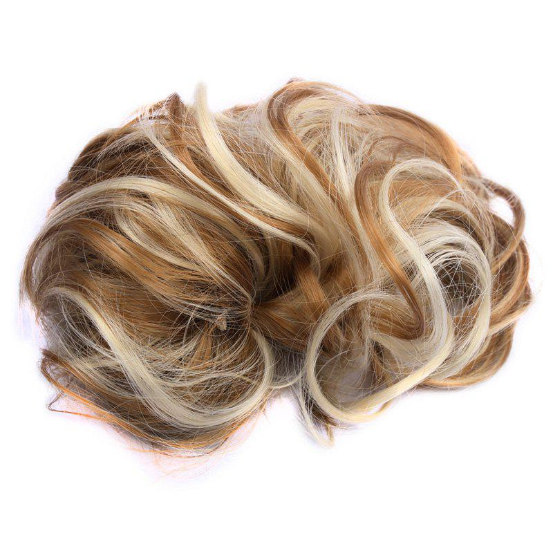 Assorted Color Fashionable Shaggy Curly Synthetic Women's Capless Chignons - BROWN F / J