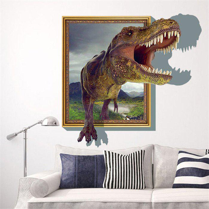 3D Dinosaur Style Removable Wall Stickers Colorful Room Window Decoration for Bedroom Store halloween creativity 3d stereotophora pumpkin window decoration wall stickers