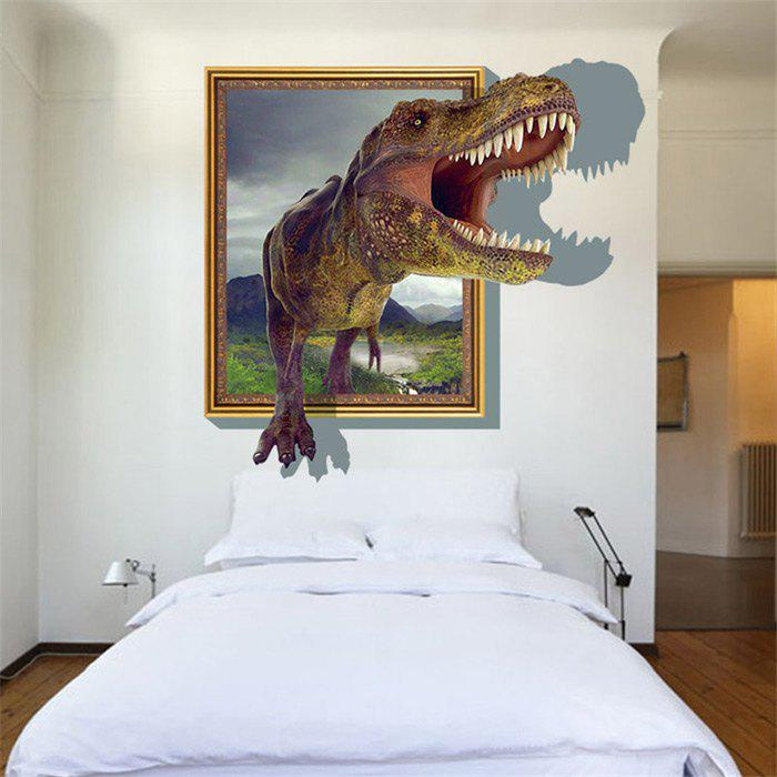 3D Dinosaur Style Removable Wall Stickers Colorful Room Window Decoration for Bedroom Store removable colorful christmas penguins children s room wall stickers