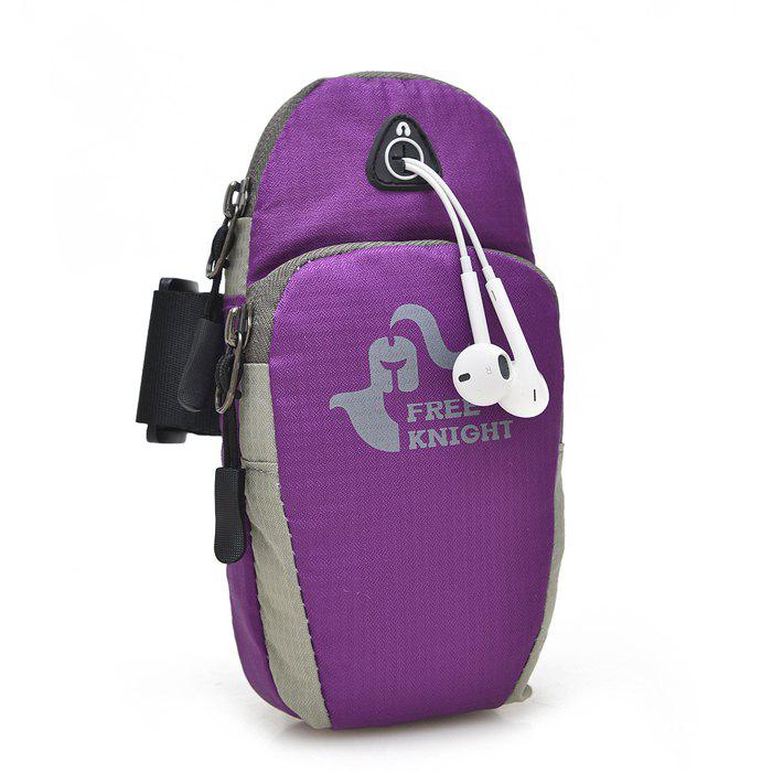 Mobile Phone Arm Bag with Double-layer Pocket Design for Jogging - PURPLE