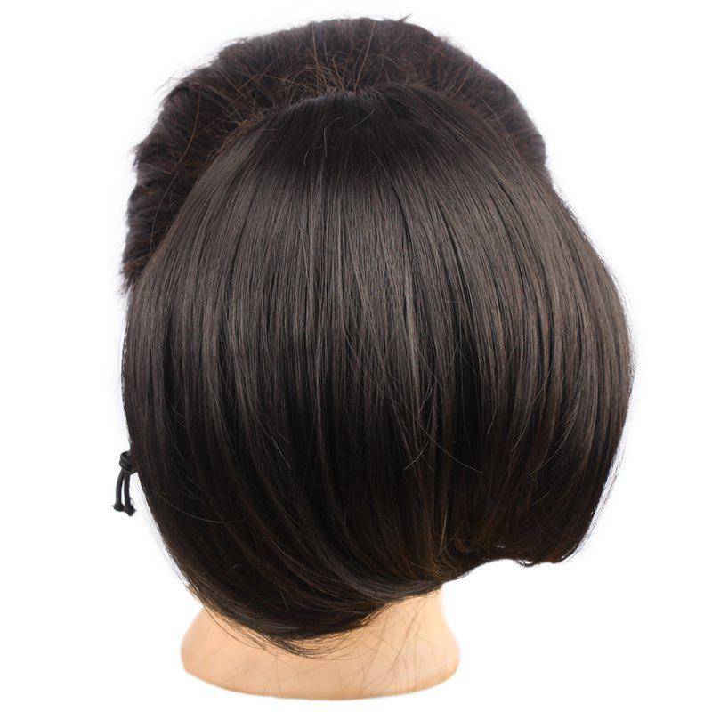 Attractive Assorted Color Capless Stylish Fluffy Synthetic Straight Women's Chignons -