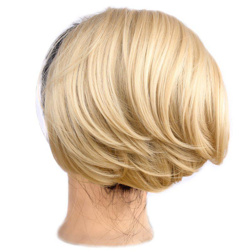 Shaggy Straight Charming Heat Resistant Fiber Fashion Capless Women's Chignons - LIGHT BLONDE /