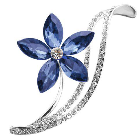 Rhinestoned Flower Shape Brooch - RANDOM COLOR