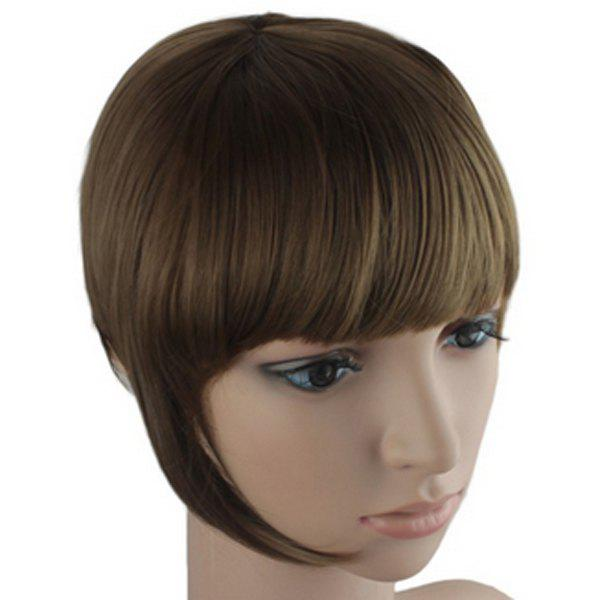 Fashion Straight Synthetic Assorted Color Clip In Full Bang With Sideburns For Women