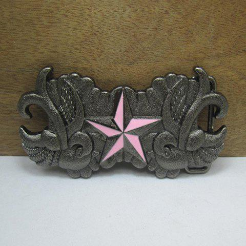 Stylish Five-Pointed Star Shape Embellished Retro Metal Belt Buckle For Men - AS THE PICTURE