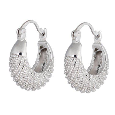 Pair of Chic Solid Color Fish Shape Earrings For Women