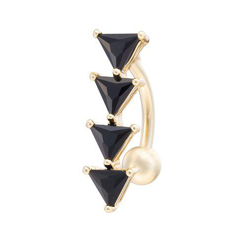 Delicate Triangle Shape Navel Button For Women - BLACK