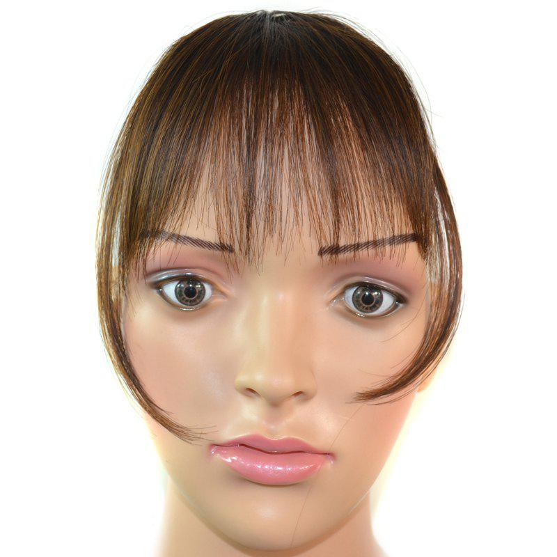 Trendy Ultrathin Capless Stunning Clip In Synthetic Women's Full Bang With Sideburns - BROWN 2/3