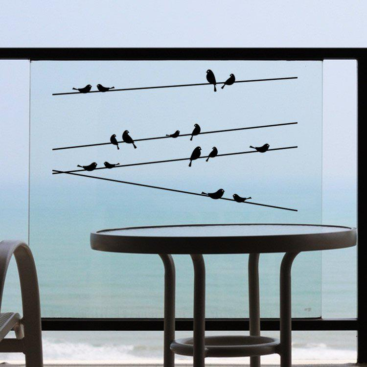 Personalized Telegraph Poles and Birds Style Removable Wall Stickers for Room Window Decoration opening window with cats vinyl wall stickers for kids room home decoration