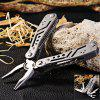 Ganzo 3028 Multifunctional Folding Pliers with 10pcs Screwdriver Bits - GRAY