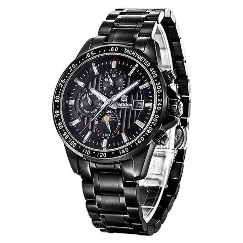 Bestdon 7108G Date Day Display Automatic Mechanical Watch for Men - BLACK