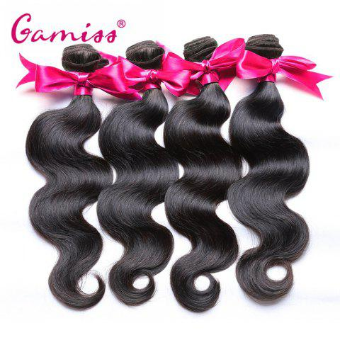 5pcs Burmese Virgin Body Wave Human Hair Weave Extension - BLACK 18INCH*20INCH*22INCH*24INCH*26INCH
