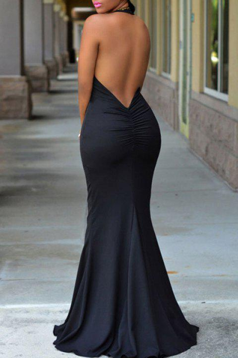 41 Off 2019 Sexy Halter Sleeveless Open Back Pure Color Womens