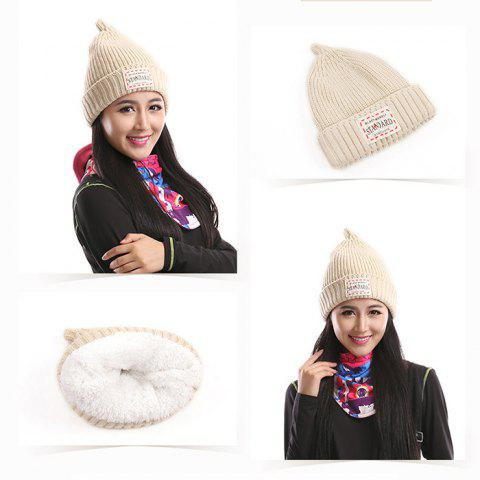 Marsnow RT01 Women Warm Steepled Hat Windproof for Cycling - Blanc Cassé