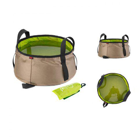 NatureHike 10L Folding Wash Basin Thickened Nylon Handle - GRASS GREEN