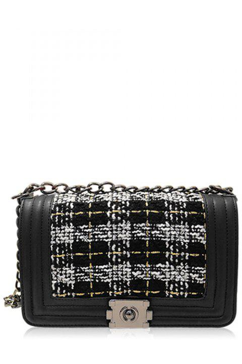 c7be012b1274 17% OFF  2019 Trendy Splicing and Chains Design Women s Crossbody ...