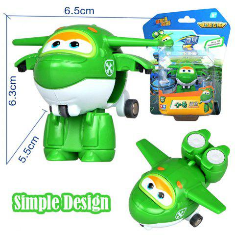 710080 Super Flying Man Tiny Transformation Toy QING Cute Gift for Kids - WHITE/GREEN
