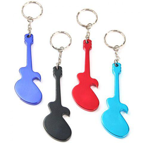 Guitar-shaped Bottle Opener Aluminum Alloy Made - RANDOM COLOR 1PC