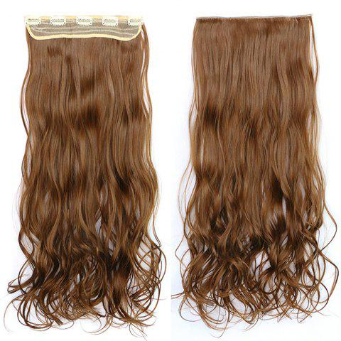 Fluffy Wavy Capless Stylish Clip In Synthetic Graceful Long Women's Hair Extension - 12