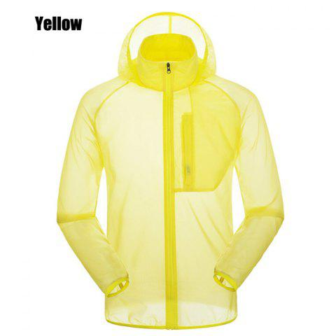 CHAOTA Outdoor Unisex Lightweight UV-resistant Skin Windbreaker - YELLOW L