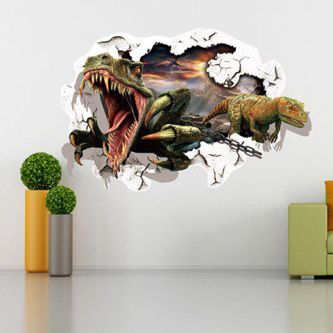 Good Quality Dinosaur Pattern Removeable 3D Wall Sticker Home Decoration - COLORMIX
