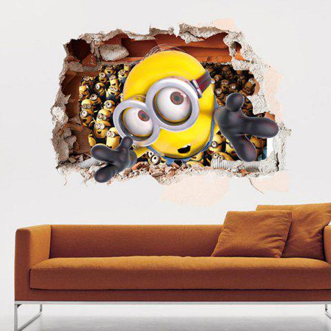 High Quality Cartoon Character Pattern Removeable 3D Wall Sticker - COLORMIX