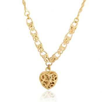 Chic Solid Color Heart Shape Hollow Out Sweater Chain For Women - GOLDEN GOLDEN