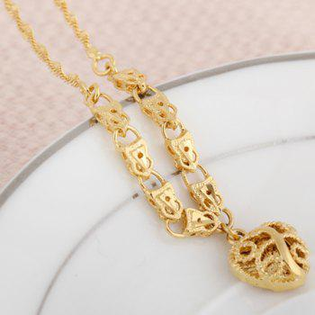 Chic Solid Color Heart Shape Hollow Out Sweater Chain For Women -  GOLDEN