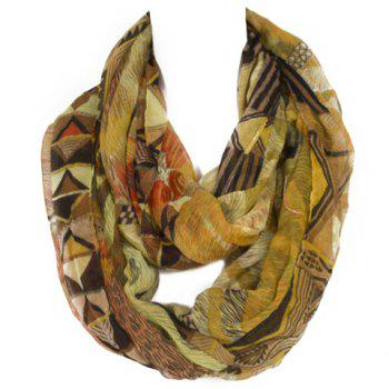 Chic Triangle and Fur Pattern Multicolor Women's Voile Scarf