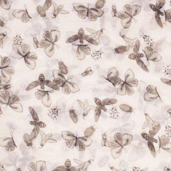 Chic Various Insect Pattern Women's Voile Scarf - WHITE