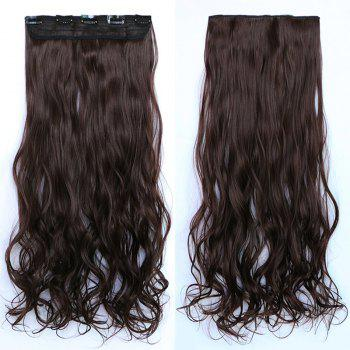 Vogue Fluffy Wave Prevailing Long Heat Resistant Fiber Hair Extension For Women - DARK AUBURN BROWN DARK AUBURN BROWN