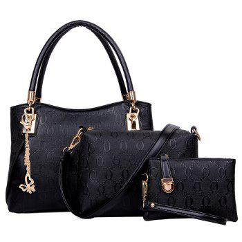 Ladies Messenger 3pcs PU Leather Handbag Purse Bags Set