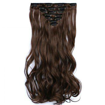 Fluffy Curly Synthetic Trendy Mixed Color Elegant Long Women's Hair Extension Suit