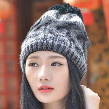 Chic Small Ball Mixed Color Women's Thicken Knitted Beanie - RANDOM COLOR