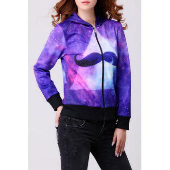 Women's Trendy Hooded Long Sleeve Trippy Print Hoodie