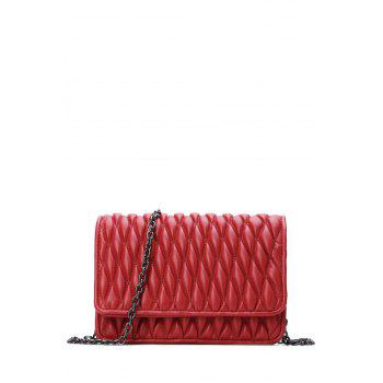 Stylish Checked and Chains Design Women's Crossbody Bag