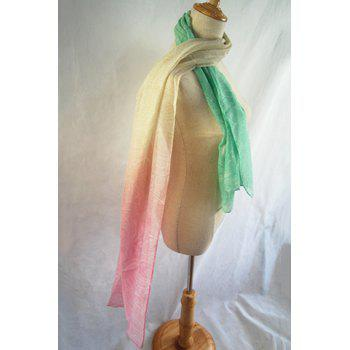 Chic Paisley Pattern Cream Color Women's Scarf - LIGHT GREEN