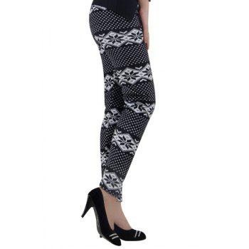Trendy Christmas Print High Waist Skinny Thick Leggings For Women - COLORMIX ONE SIZE(FIT SIZE XS TO M)