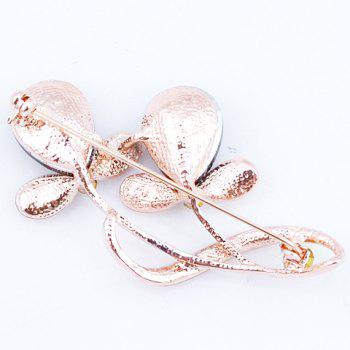 Chic Faux Crystal Rhinestone Plant Shape Brooch For Women -  SAPPHIRE BLUE