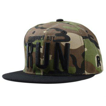 Stylish Black Capital Letters Embroidery Camouflage Pattern Men's Baseball Cap