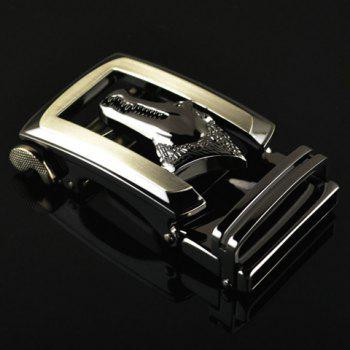 Stylish Alligator Head Shape Embellished Hollow Out Men's Automatic Buckle - AS THE PICTURE
